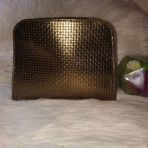 Lancome gold cosmetic bag